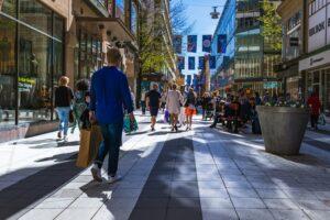 Einkaufsstraße in Stockholm
