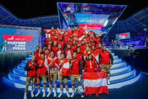 Das österreichische Team bei den WorldSkills 2019